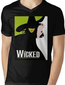 Wicked Broadway Musical Mens V-Neck T-Shirt