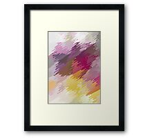 Abstract colorful bright background with brush strokes texture Framed Print
