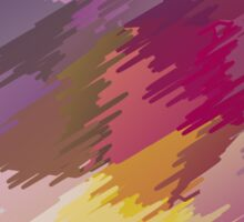 Abstract colorful bright background with brush strokes texture Sticker