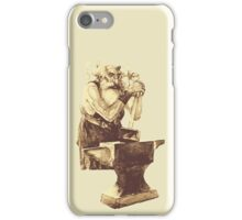 Fantasy Dwarf Blacksmith from Faeries iPhone Case/Skin