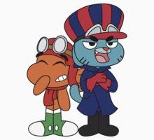 Gumball and Darwin - Wacky Racers Baby Tee