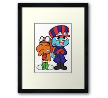 Gumball and Darwin - Wacky Racers Framed Print