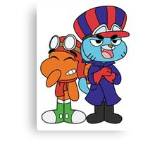 Gumball and Darwin - Wacky Racers Canvas Print