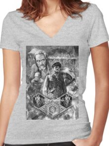 Quatermass and the Pit Movie Design Women's Fitted V-Neck T-Shirt