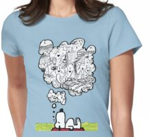 Snoopy Dreams Womens Fitted T-Shirt