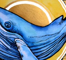 Whale and the sun Sticker