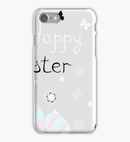 happy Easter with rabbit vector illustration iPhone Case/Skin