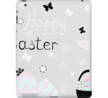 happy Easter with rabbit vector illustration iPad Case/Skin