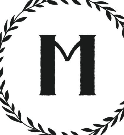 Monogram Wreath - M Sticker