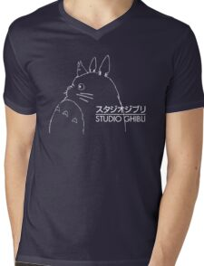 Studio Ghibli Inspired Totoro Mens V-Neck T-Shirt
