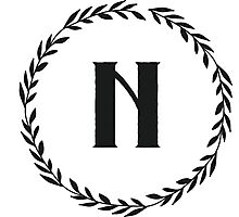 Monogram Wreath - N Photographic Print