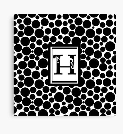 H Bubbles Canvas Print