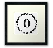 Monogram Wreath - O Framed Print