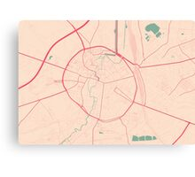 Leuven Map (Springtime) Canvas Print