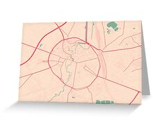 Leuven Map (Springtime) Greeting Card