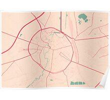 Leuven Map (Springtime) Poster