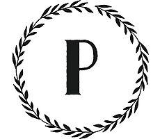Monogram Wreath - P Photographic Print