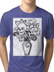 Bouquet Decay: Memento Mori Tri-blend T-Shirt