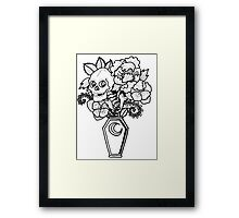 Bouquet Decay: Memento Mori Framed Print