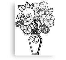Bouquet Decay: Memento Mori Metal Print