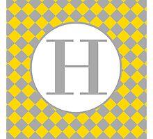 H Checkard Photographic Print