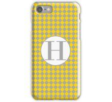 H Checkard iPhone Case/Skin