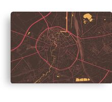 Leuven Map (Summer) Canvas Print