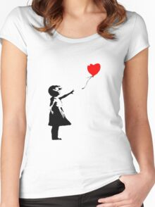 Banksy 1 Women's Fitted Scoop T-Shirt