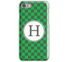 H Checkard II iPhone Case/Skin