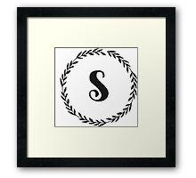 Monogram Wreath - S Framed Print