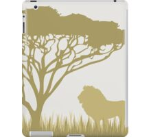 Lion on the Plains iPad Case/Skin
