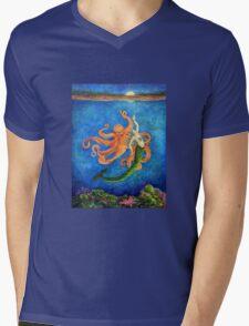 Moon Dance (Mermaid & Octopus) Mens V-Neck T-Shirt