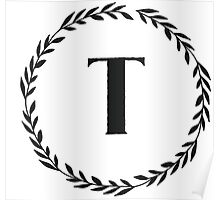 Monogram Wreath - T Poster