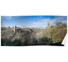 Panorama of Clifton Suspension Bridge Poster
