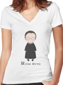 R is for Ruth Women's Fitted V-Neck T-Shirt