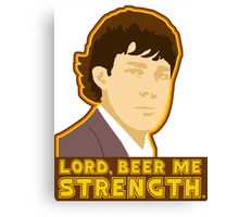 Lord, beer me strength Canvas Print
