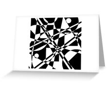 Gestalt Black&White 2 Greeting Card