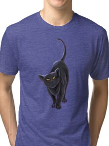 Animal Parade Black Cat Tri-blend T-Shirt
