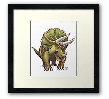Animal Parade Triceratops Framed Print
