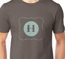 Striped Letter H Unisex T-Shirt