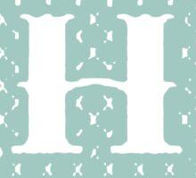Striped Letter H Sticker