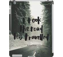 The Road Less Travelled iPad Case/Skin