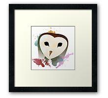 Watercolor Owl. Framed Print