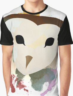 Watercolor Owl. Graphic T-Shirt