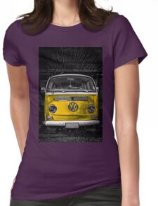 Yellow combi Volkswagen Womens Fitted T-Shirt