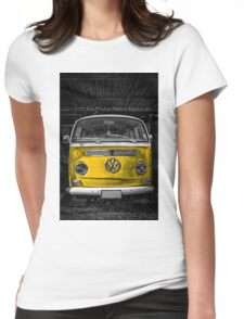 Yellow combi Volkswagen Womens Fitted T-Shirt