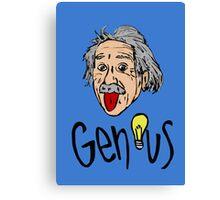 Albert Einstein bigmouth Canvas Print