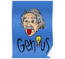 Albert Einstein bigmouth Poster