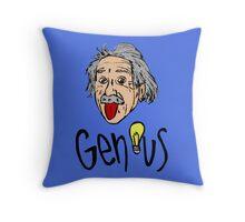 Albert Einstein bigmouth Throw Pillow