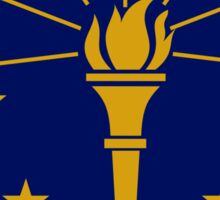 Indiana State Flag & Outline Sticker
